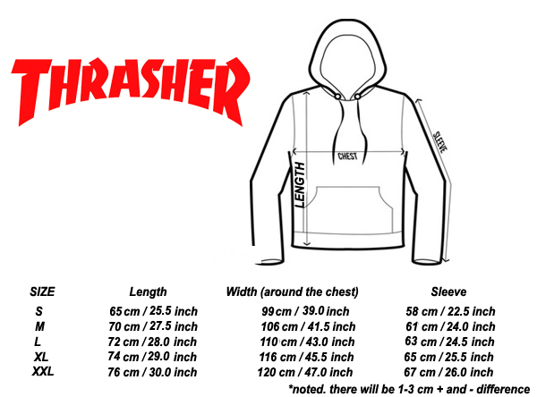 thrasher-Hoodie-size-chart